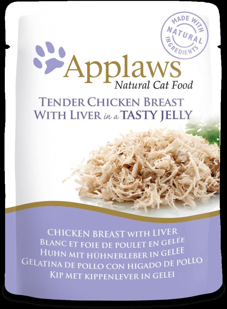 Gelatina de pollo con hígado de pollo 1